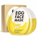 Set of Ten Egg Whitening Face Masks